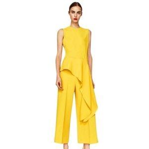 Zara asymmetrical ruffle blouse